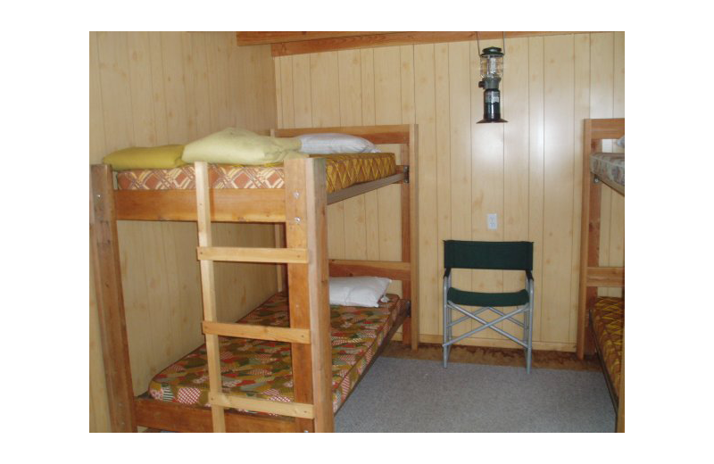 Guest room at Naknek River Camp.