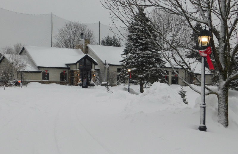 Winter at Fairway Suites At Peek'n Peak Resort.