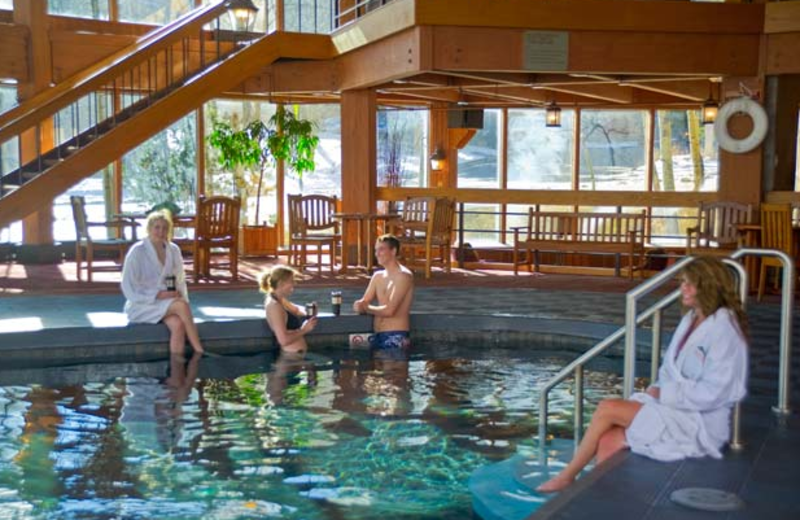 Indoor pool at Beaver Run Resort.