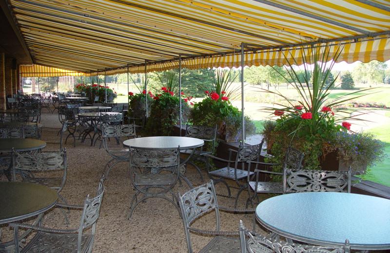 Patio at Lakewood Shores Resort.