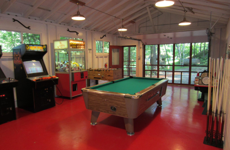 Recreation room at Lost Lake Lodge.