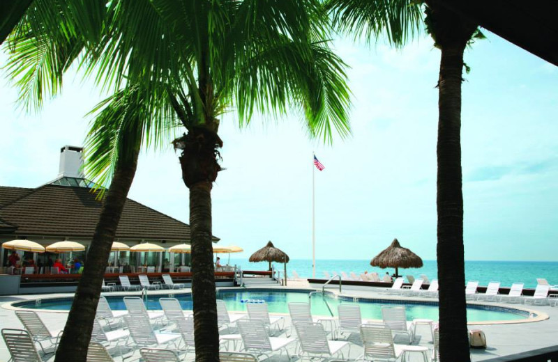Outdoor pool at The Gasparilla Inn & Club.