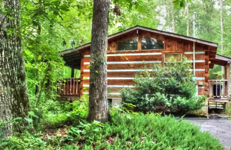 Cabin exterior at TNT Cabin Rentals.