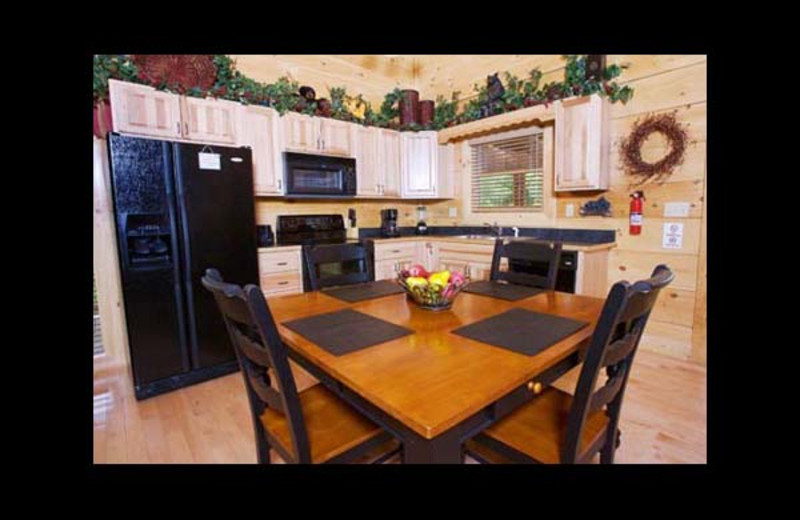 Cabin kitchen at Eden Crest Vacation Rentals, Inc. - Bear Tracks Bungalow.