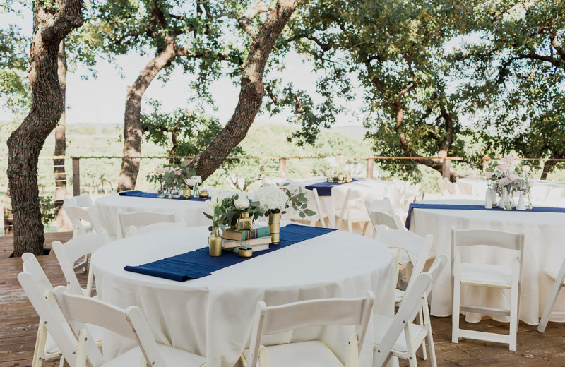 Wedding reception at The Heart of Texas Ranch.