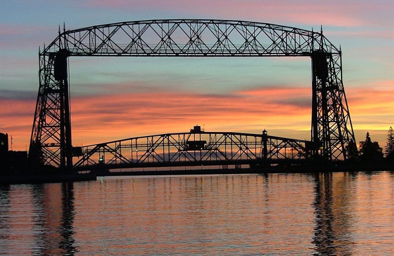 View of the lake at Hampton Inn Duluth.