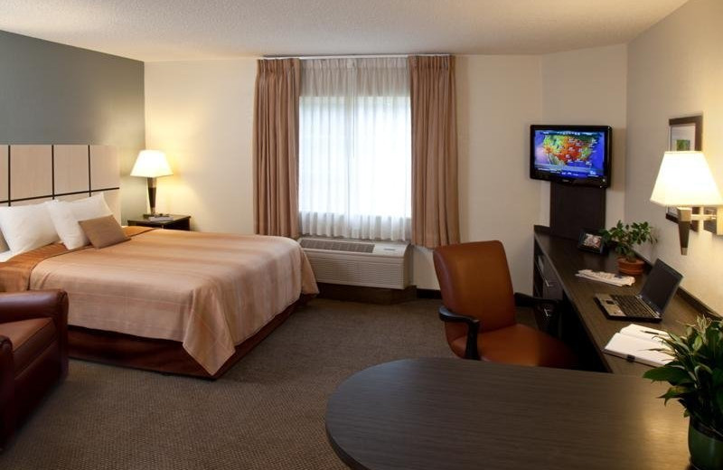 Guest room at Candlewood Suites DETROIT-TROY.