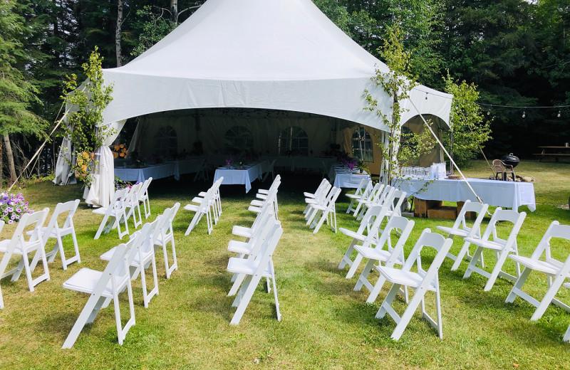 Event tent at Pakwash Lake Camp.