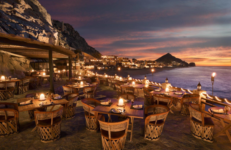 Restaurant patio at Luxury Villa Collections.