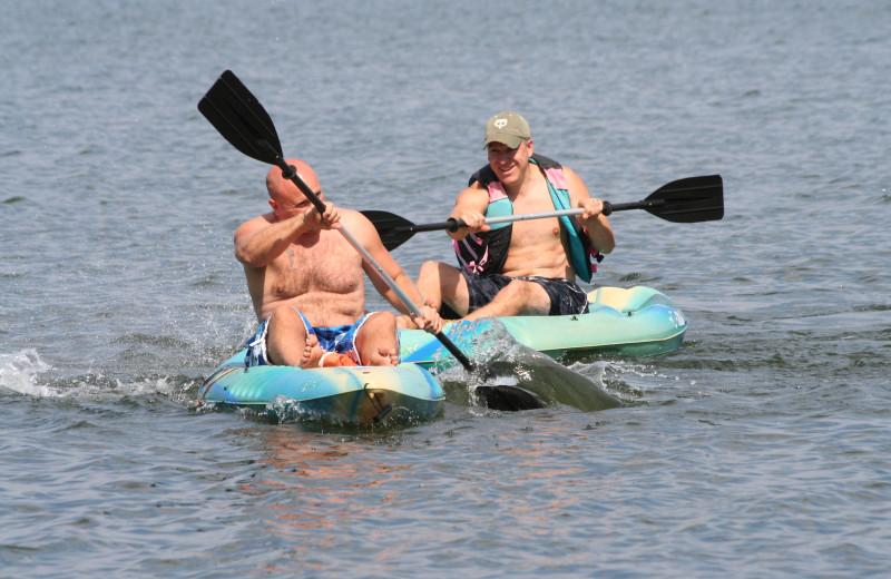 Kayaking at Bay View Lodge.