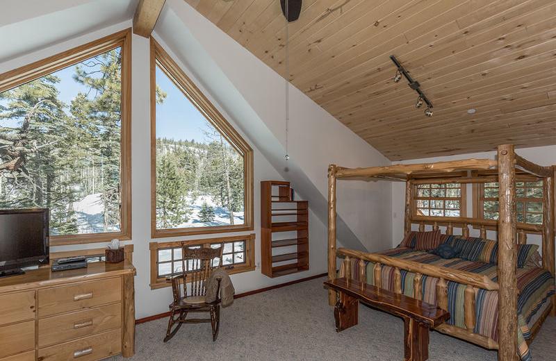 Rental bedroom at Durango Colorado Vacations, LLC.