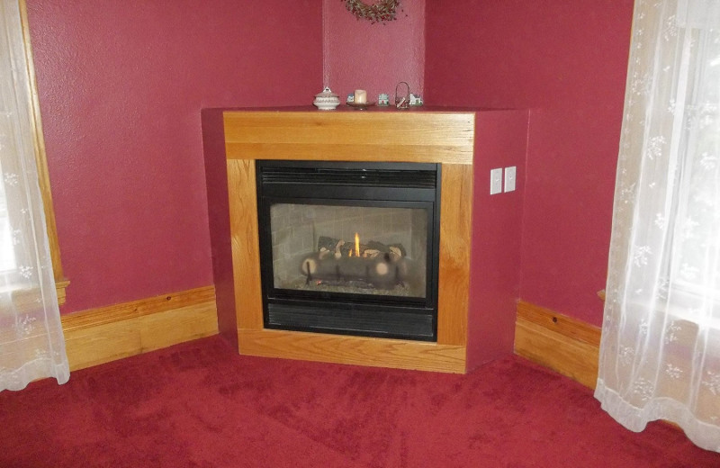 Fireplace at The Sawyer House Bed & Breakfast, LLC