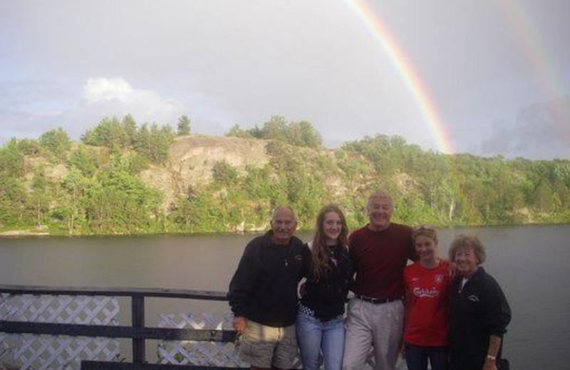 Family at Crooked Lake Wilderness Lodge.