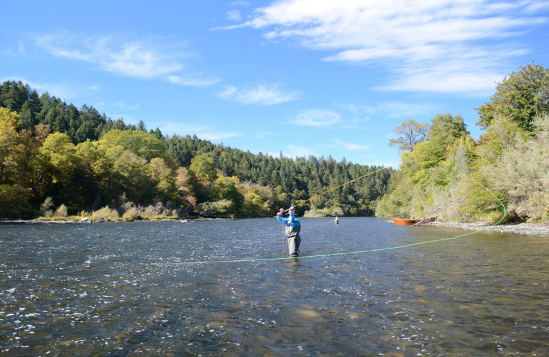 Fishing at Morrison's Rogue River Lodge.