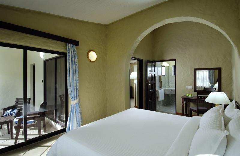 Guest room at Berjaya Praslin Beach Resort.