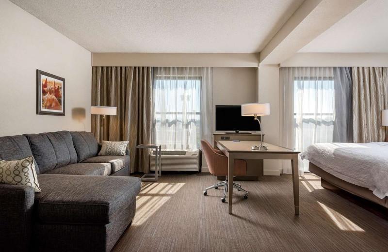 Guest room at Hampton Inn Myrtle Beach-West.