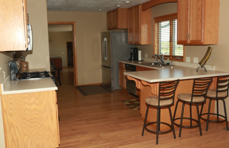 Guest kitchen at Granite Springs Lodge.