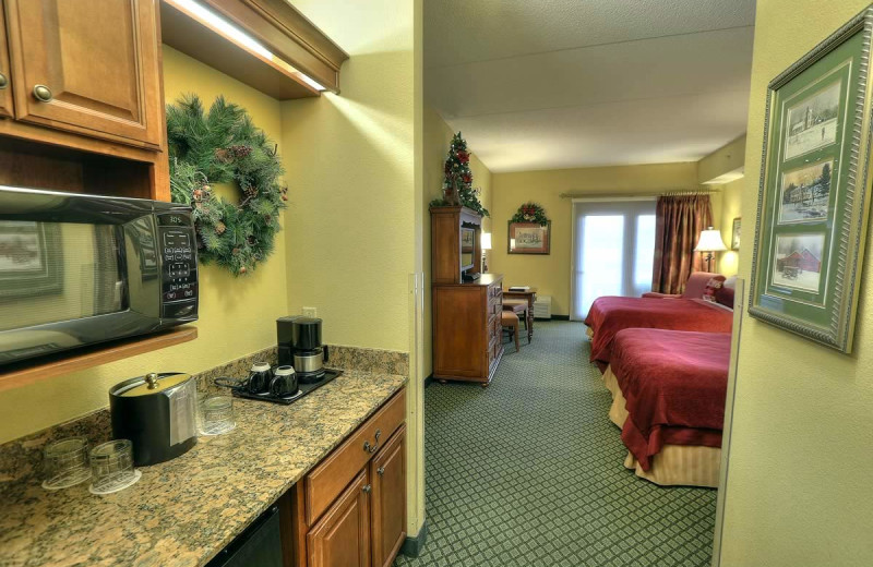 Guest room at The Inn at Christmas Place.