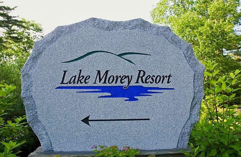 Lake Morey Resort sign.