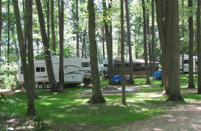 Campsites at Merry Mac's Campground