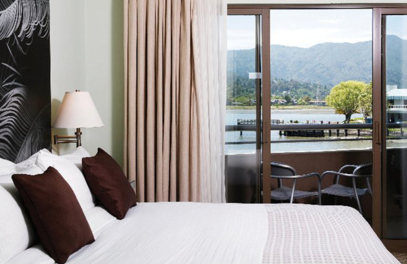 Guest room at Acqua Hotel.