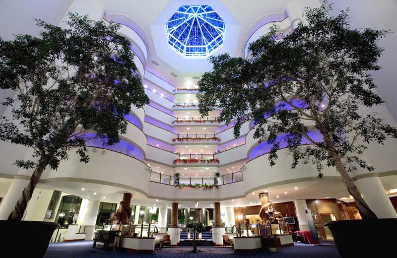 Lobby at The Celtic Manor Resort.