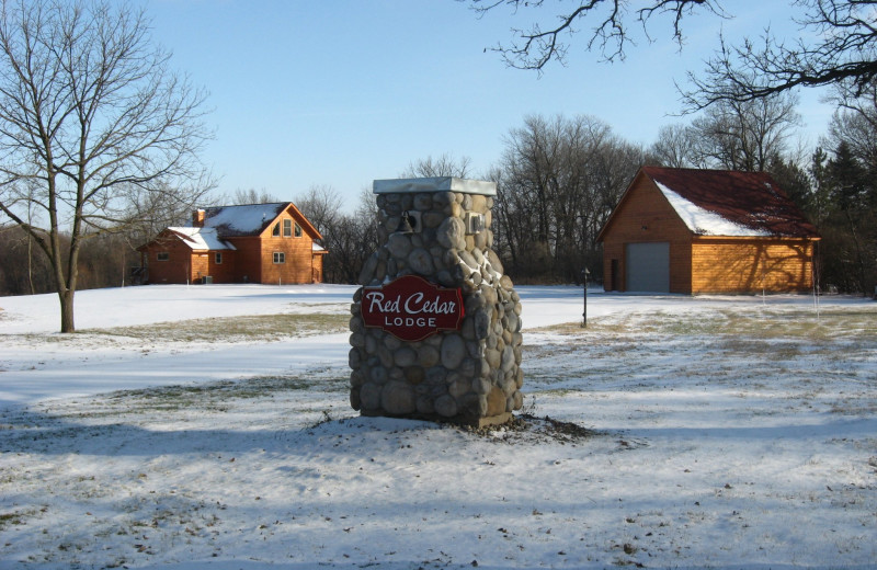 Winter at Red Cedar Lodge.