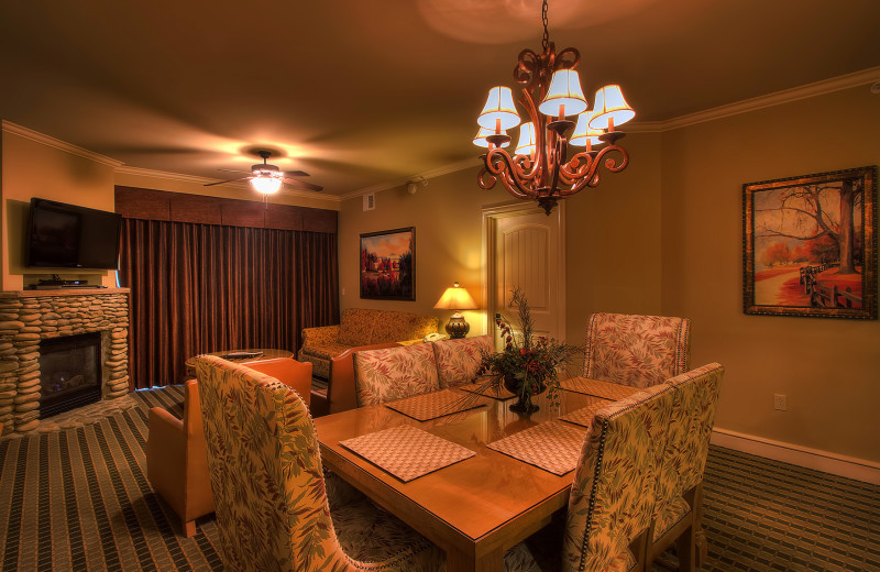 Suite interior at Riverstone Resort & Spa.