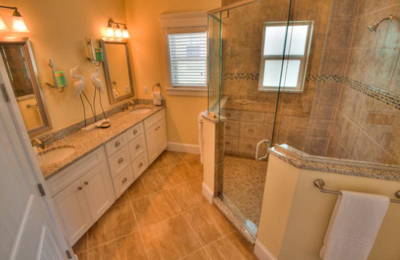 Rental bathroom at Anna Maria Vacations.
