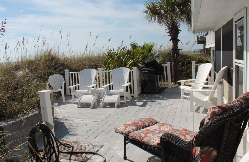 Rental patio at Seagrove On The Beach Property Rentals.
