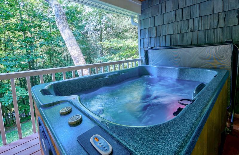 Rental hot tub at Eden Crest Vacation Rentals, Inc.