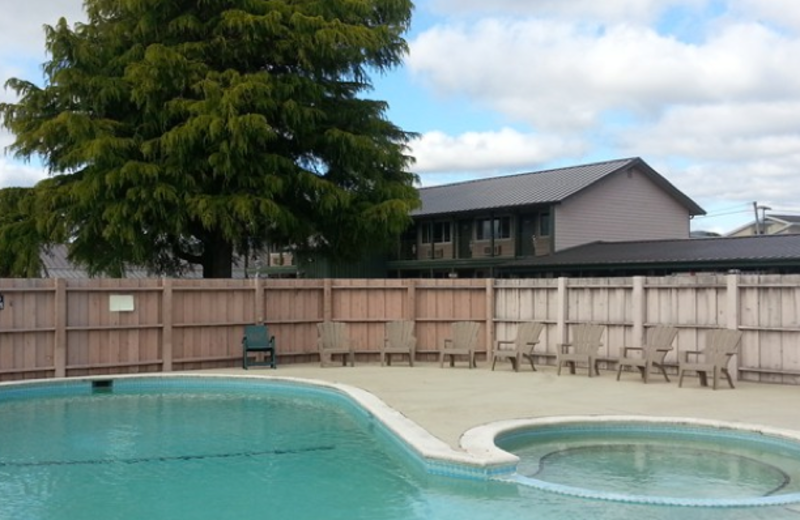 Outdoor pool at Forks Motel.