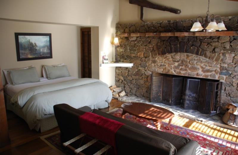 Guest room at Blackthorne Inn & Restaurant.