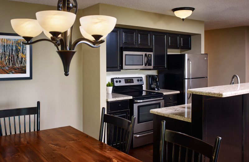 Guest kitchen at Deerstalker Resort.