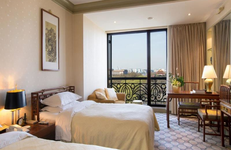 Guest room at Grand Hotel Beijing.