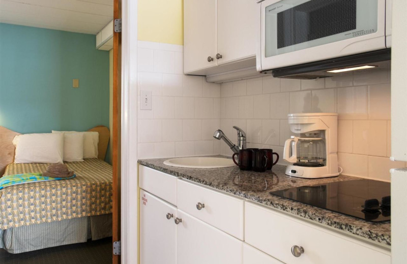 Guest kitchen at Shalimar Resort and Conference Center.