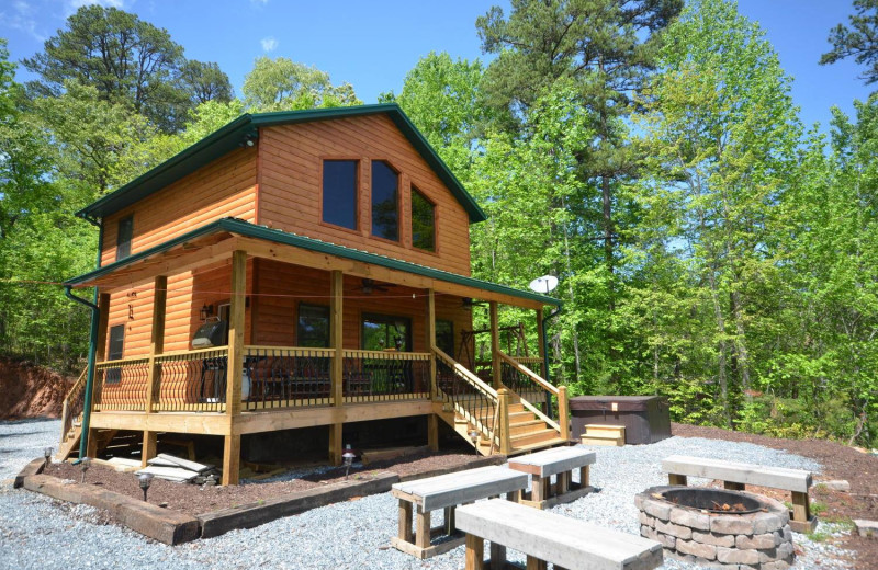 Rental exterior view of Smoky Mountain Cabins.