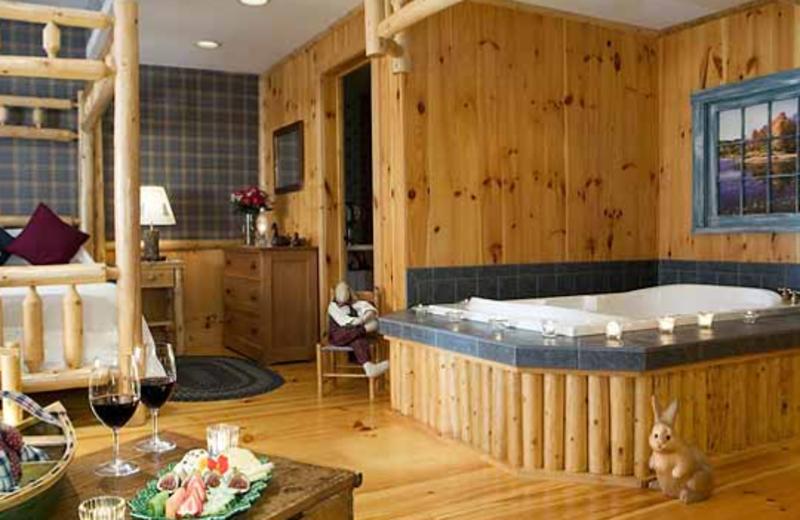 Cedar Glen Luxury Room view at Rabbit Hill Inn.