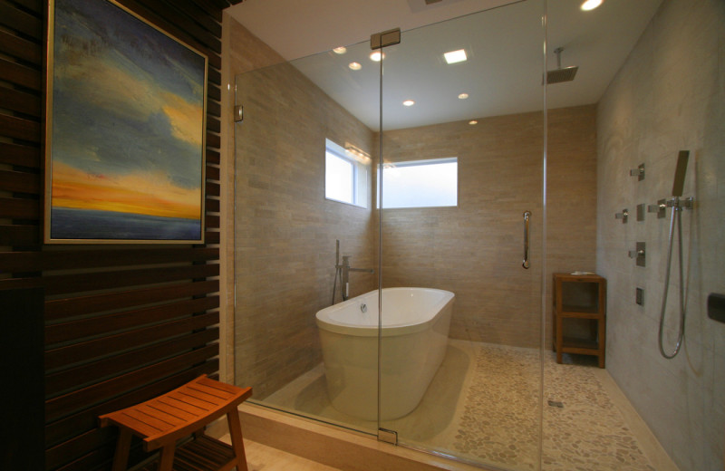Suite bathroom at Interlaken Resort & Conference Center.