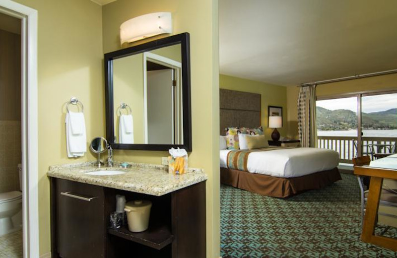 Handicapped accessible room at Campbell's Resort on Lake Chelan.