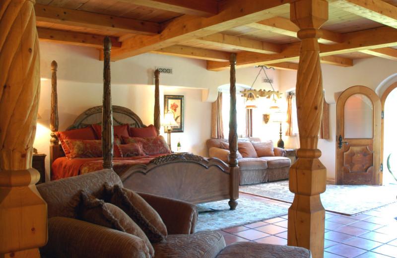 Guest room at Enzian Inn.