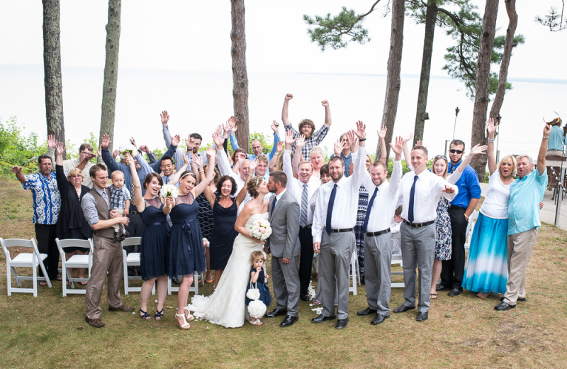 Wedding Photo at Beaver Island Lodge