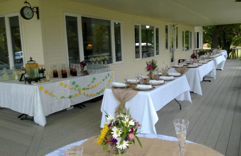 Wedding dinner at Haven River Inn.