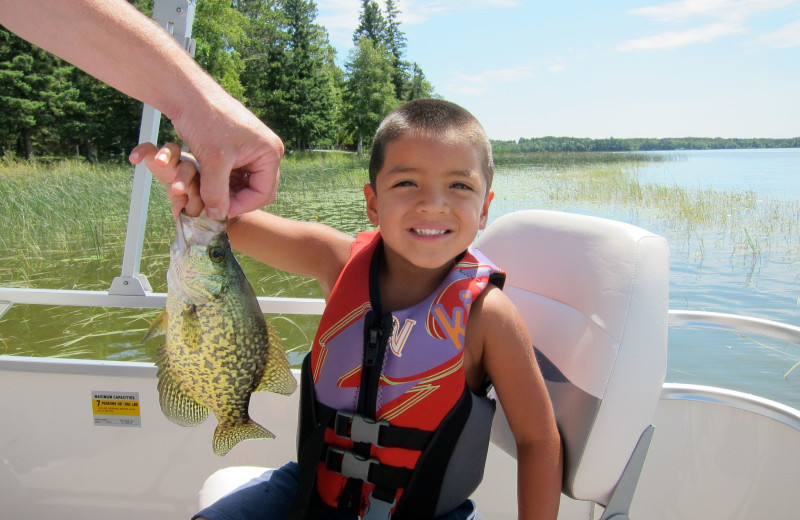 Fishing at Two Inlets Resort.