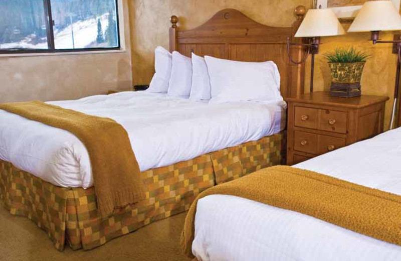 Guest beds at Beaver Run Resort & Conference Center.