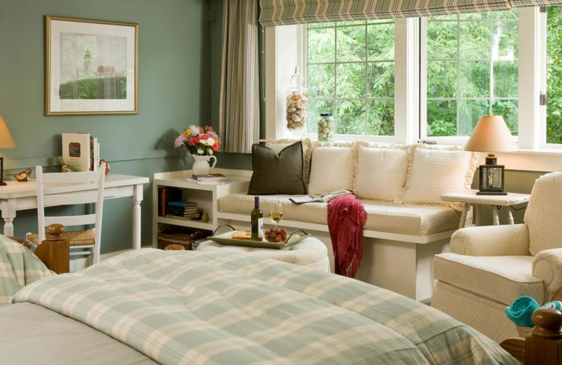 Guest room at Lake Opechee Inn and Spa.