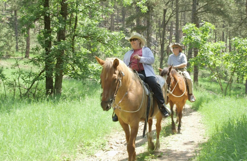 Horseback riding at Ghost Canyon Ranch.