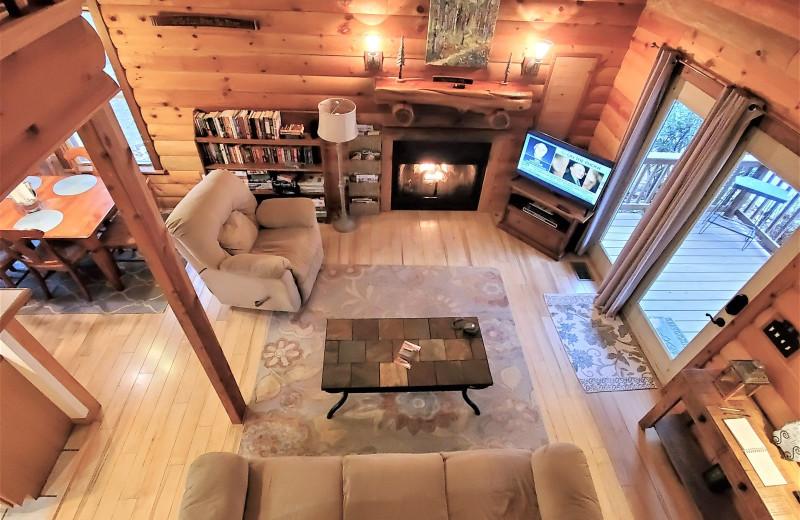 Rental living room at Allstar Lodging.