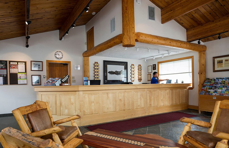 Lobby at Rocky Mountain Ski Lodge.