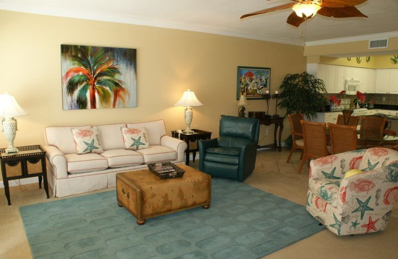 Rental interior at Gulf Beach Rentals.